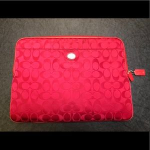 Coach Legacy Signature Nylon Laptop Sleeve/Bag 💻